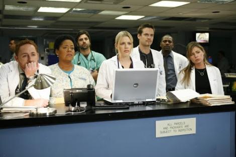 Scott Grimes, John Stamos, Busy Philipps, Shane West, Mekhi Phifer, Maura Tierney [ER Season 13]