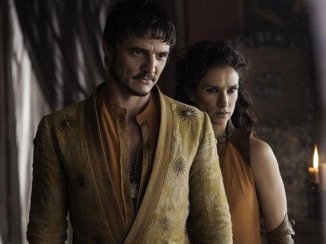 Oberyn Martell (Pedro Pascal) et sa meuf, Ellaria Sand (Indira Varma).