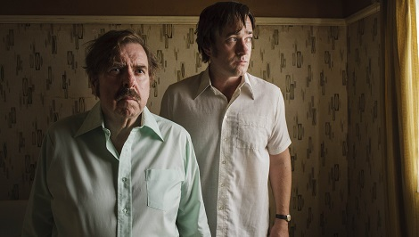 The Enfield Haunting Sky Living Episode 1 Timothy Spall as Maurice Grosse and Matthew Macfadyen as Guy Lyon Playfair Credit: Photograph by Nick Briggs