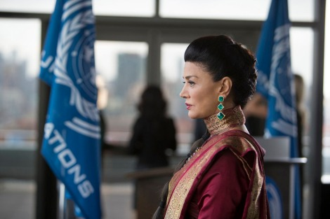 "THE EXPANSE -- ""The Big Empty"" Episode 102 -- Pictured: Shohreh Aghdashloo as Chrisjen Avasarala -- (Photo by: Rafy/Syfy)"